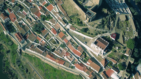 Aerial View of the Fortified Town Footage