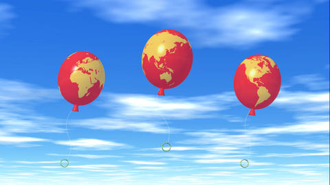 Balloon global map CG動画素材