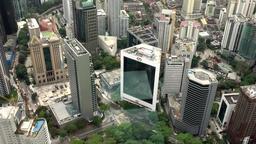 Malaysia Kuala Lumpur 021 fantastic buildings seen from air Filmmaterial