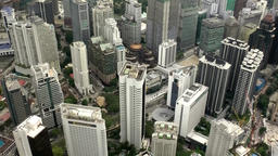 Malaysia Kuala Lumpur 022 cityscape seen from top of television tower Footage