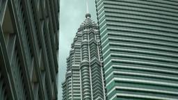 Malaysia Kuala Lumpur 040 petronas twin towers between other skyscrapers Footage