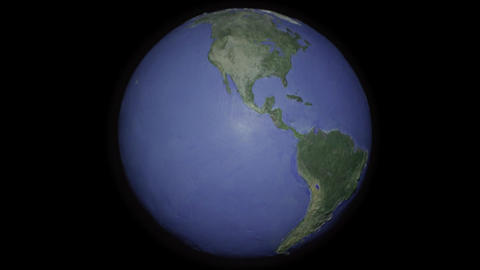 Centered seamless loop of projector style globe Stock Video Footage