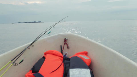 fisher boat on board view Footage