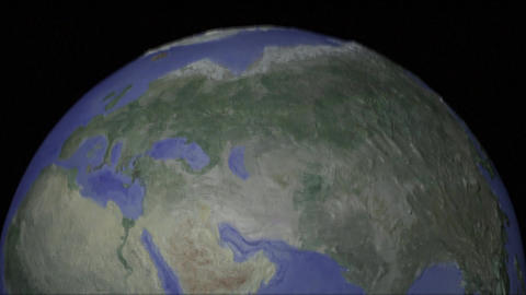 Centered seamless loop of top of projector style globe Footage