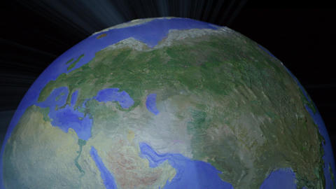 Centered seamless loop of top of light ray style globe... Stock Video Footage