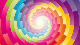 colorful circular spiral rotating background endless loop Animation