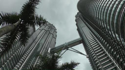 Malaysia Kuala Lumpur 043 Petronas Twin Towers with Skybridge Footage