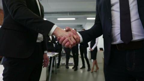 Handshake of business people Footage