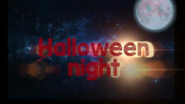 Space halloween Apple Motion Template