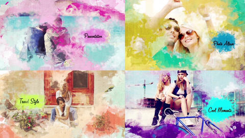 Watercolor Painting Slideshow After Effects Template