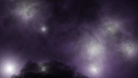 Flickering Lights with smoke - Dark Purple Animation