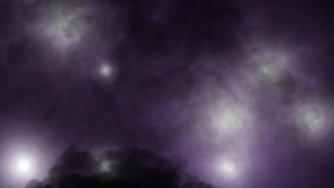 Flickering Lights with smoke - Dark Purple Animation