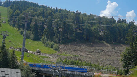 Carpathians chair lift Footage