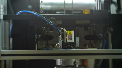 Motion along Machine Tool for Drill Motor Parts Manufacture Footage
