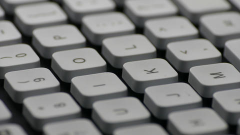 """1080p Ungraded: Rotating English PC Keyboard Around """"K"""", """"L"""", """"O"""", """"P"""" And Live Action"""