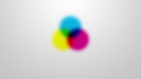 subtractive color mixing in CMYK color space Animation