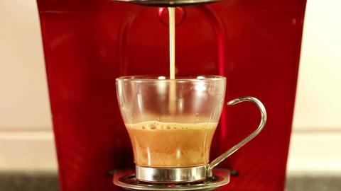 Coffee espresso preparation Footage