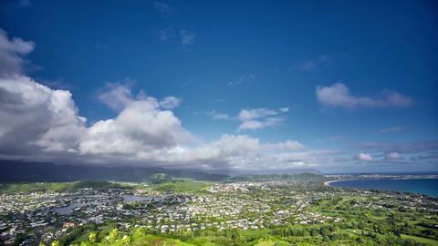 timelapse of clouds over Kailua, O'ahu, Hawaii Footage