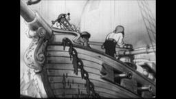ALL TOGETHER! 1930s: Cartoon Pirates Hoist Anchor Footage