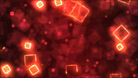 Drawing Square Shapes Motion Background Animation - Loop Red Animation