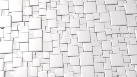 White Abstract Cubes 3d Background In 4k Animation