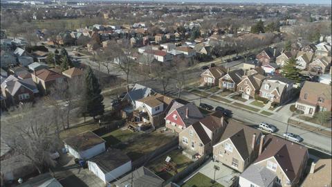 Flying Above Neighborhoods - Chicago 2 Footage