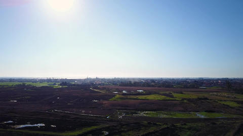 Aerial View of rural landscape Footage