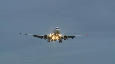 Plane Approaching Landing Footage