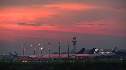 Malaysia Airport Time-lapse At Dawn Filmmaterial