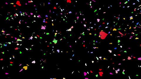 Confetti Heart 1 LU Fix 6LcB M 4k CG動画素材