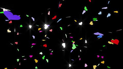 Confetti Heart 1 LU Fix 6XcB L 4k CG動画素材