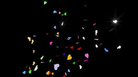 Confetti Heart 1 Slant Fix 1XcB L 4k CG動画素材