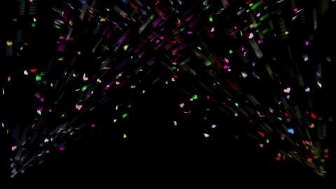 Confetti Heart 1 Slant Fix 2LcB M 4k CG動画素材