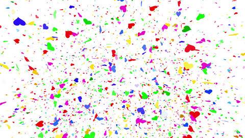 Confetti Heart 1 Slant Fix 2McW L 4k CG動画素材