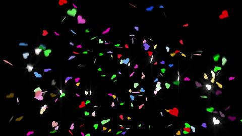 Confetti Heart 1 Slant Fix 2XcB L 4k CG動画素材
