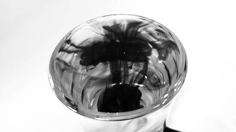Ink in Glass of Water - Slow Motion (5) Footage
