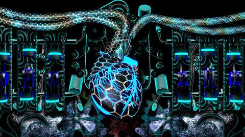 Techno Heart 03 Vj Loop Animation