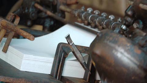 old vintage printing press Filmmaterial