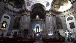 Interior of the historical church - Iglesia de Nuestra Senora de Loreto Footage