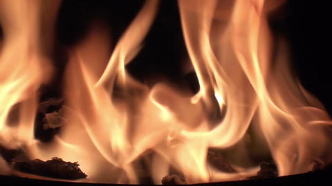 Fire Flame - Close Up Footage