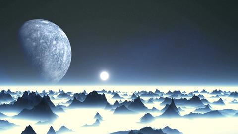 Sunrise Over An Alien Planet Animation