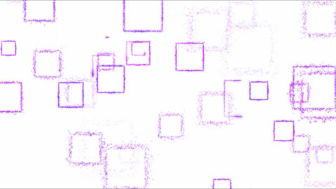 Drawing Square Shapes on White Background - Loop Purple Animation