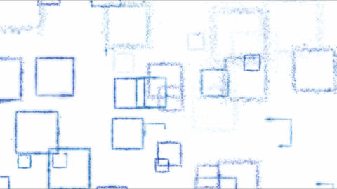 Drawing Square Shapes on White Background - Loop Blue Animation