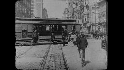 Turn of the Century 1890s - 1900s San Francisco Market Street – Clip 1 Footage