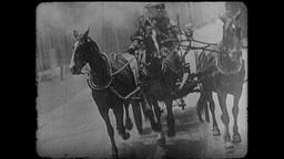 Turn of the Century 1890s - 1900s Horse Drawn Fire Engines Archivo