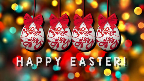 Happy Easter: cartoon animation for the opening show Animation