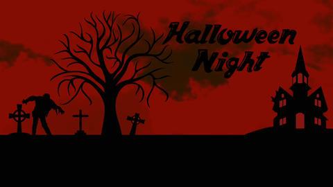 Halloween animation: Black and Red intro Animación