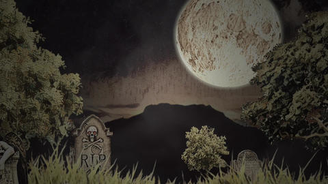 Halloween animation: sand show Animation