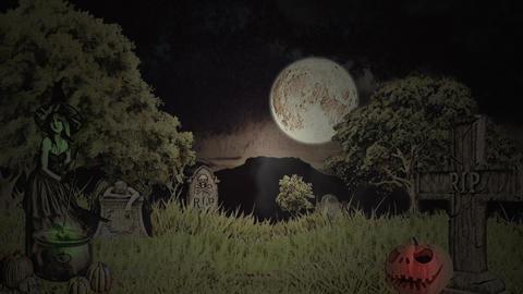 Halloween animation: sand show Stock Video Footage