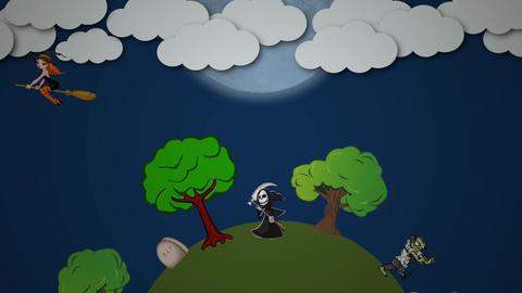 Halloween animation: Circle Animation